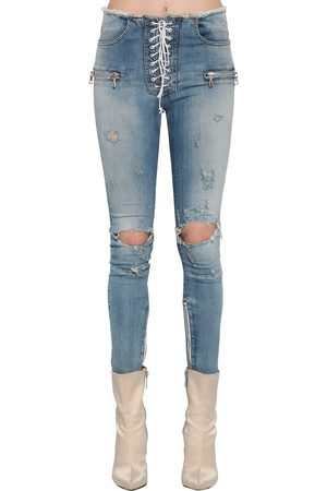 UNRAVEL Jean Skinny En Denim Stretch Avec Lacets