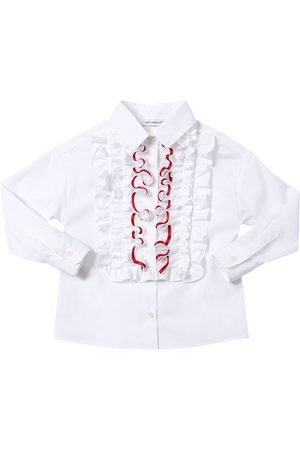 Dolce & Gabbana Chemise En Popeline De Coton Mélangé Stretch