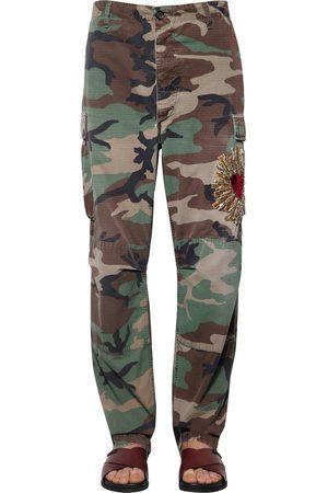 Dolce & Gabbana Pantalon Militaire Avec Coeur Brodé