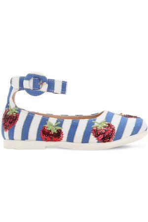 Aquazzura Ballerines En Toile Embellie