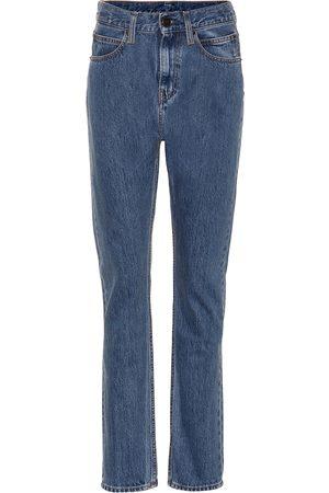 Calvin Klein Jean droit à taille haute en coton