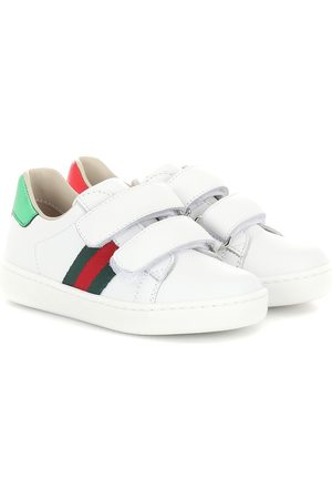 Gucci Baskets Web en cuir