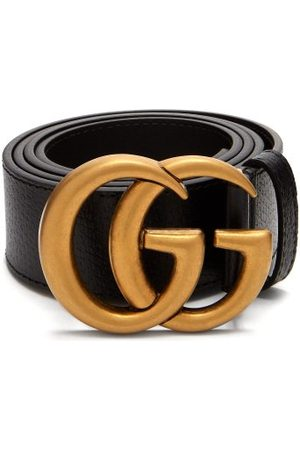 Gucci Homme Ceintures - Ceinture en cuir texturé GG