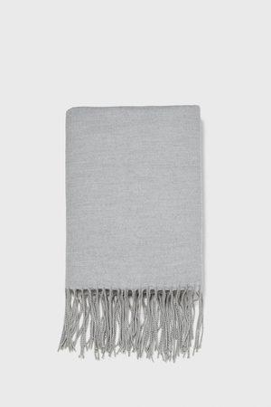 Zara écharpe unie à franges