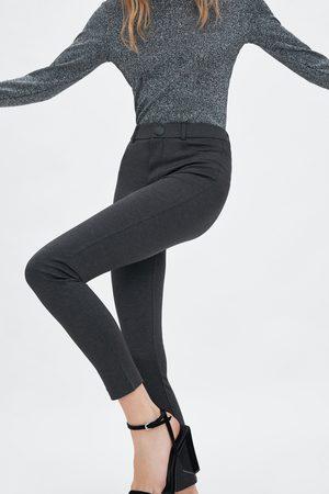 Zara Legging à taille haute avec bouton
