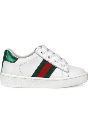 Gucci Baskets - Sneaker bassa in pelle con dettaglio Web