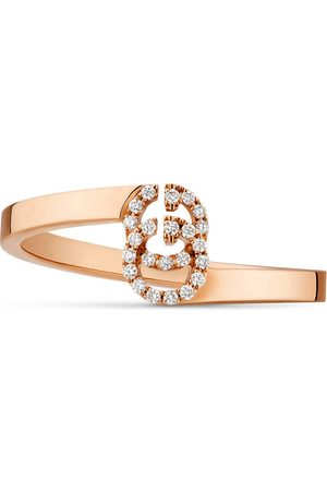 Gucci Bague GG en or rose et diamants