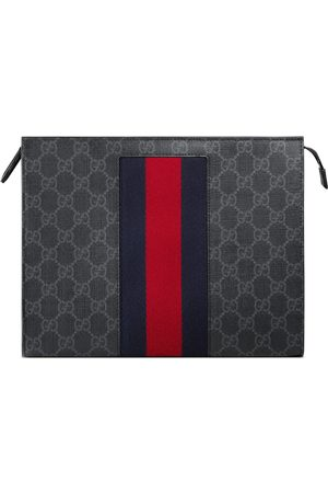 Gucci Pochette suprême GG à bande Web