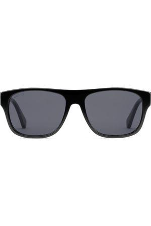 Gucci Lunettes de soleil rectangulaires en acétate