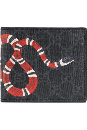 Gucci Portefeuille avec porte-monnaie Suprême GG à imprimé Kingsnake