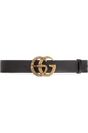 Gucci Ceinture en cuir à boucle Double G avec serpent