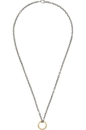 Gucci Collier à pendentif anneau serpent en or