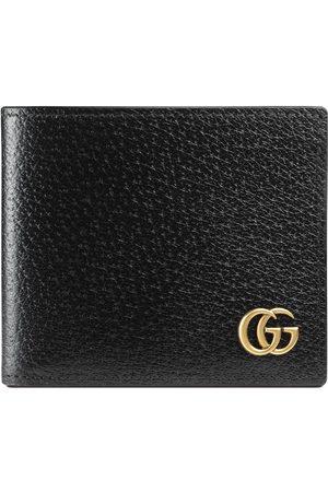 Gucci Portefeuille à rabat en cuir GG Marmont