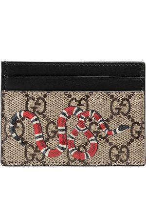 Gucci Porte-cartes Suprême GG à imprimé serpent