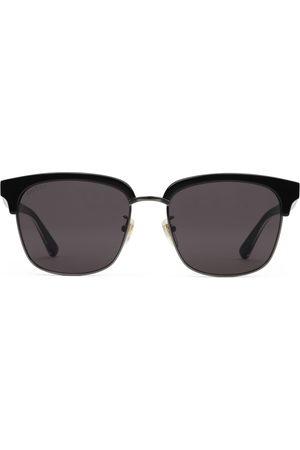 Gucci Homme Lunettes de soleil - Lunettes de soleil rectangulaires en métal