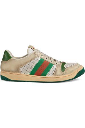 Gucci Baskets en cuir effet usé