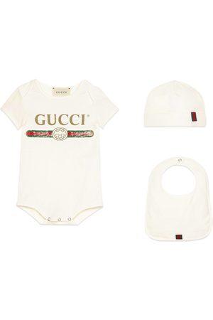 Gucci Ensemble cadeau pour bébé en coton avec logo