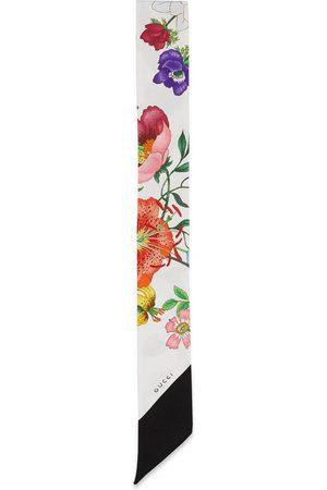 Gucci Nœud en twill de soie à imprimé flora