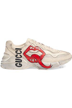 Gucci Baskets Rhyton à imprimé bouche