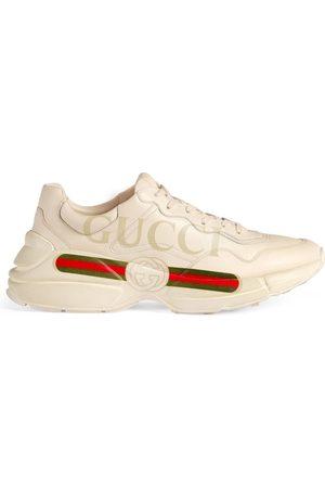 Gucci Baskets en cuir Rhyton avec logo