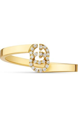 Gucci Bague GG en or jaune et diamants