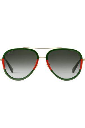 Gucci Homme Lunettes de soleil - Lunettes de soleil aviateur en métal 9cefdfcb9584