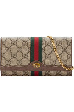 Gucci Portefeuille Ophidia GG avec chaîne