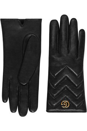 Gucci Gants GG Marmont en cuir à chevrons