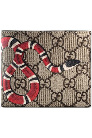 Gucci Portefeuille Suprême GG à imprimé serpent