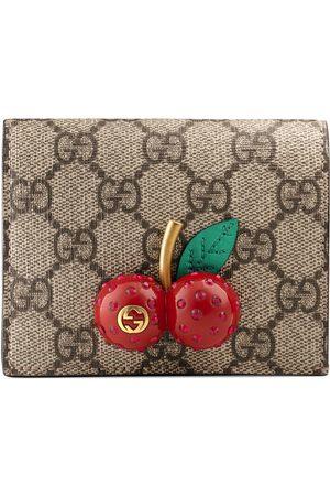 Gucci Porte-cartes en toile suprême GG avec cerises