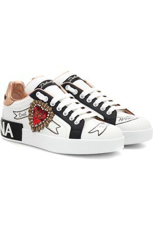 Dolce & Gabbana Baskets en cuir imprimé à ornements
