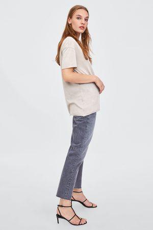 08f76fe87be Tops   t-shirts femme t-shirt dechire Zara - comparez et achetez