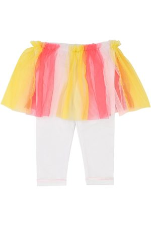 Billieblush Legging En Jersey De Coton Avec Jupe En Tulle