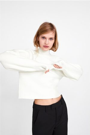 Zara SWEATER WITH PUFF SLEEVES