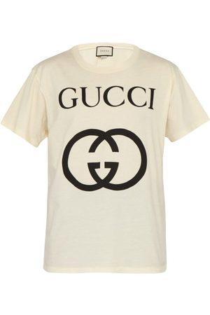 Gucci T-shirt en coton à imprimé logo