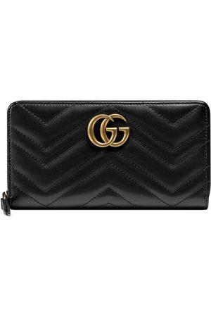 Gucci Portefeuille à fermeture éclair circulaire GG Marmont