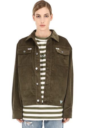 INFINITE ARCHIVES X GUESS JEANS U.S.A. Femme Vestes - Ia Ls Cotton Corduroy Worker Jacket