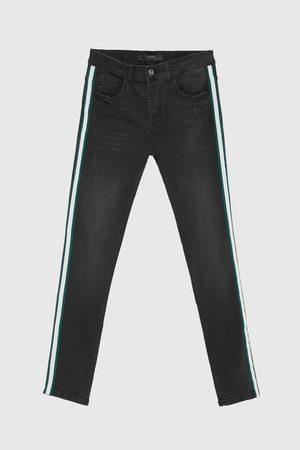 Zara Jeans - JEAN SKINNY À BANDES LATÉRALES