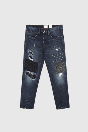 Zara Jeans - JEAN COUPE AMPLE À PIÈCES
