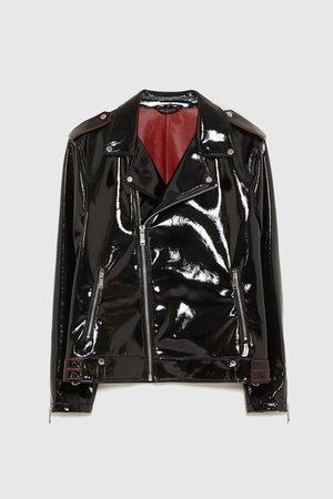 Zara Vestes en cuir - BLOUSON DE MOTARD EN VINYLE