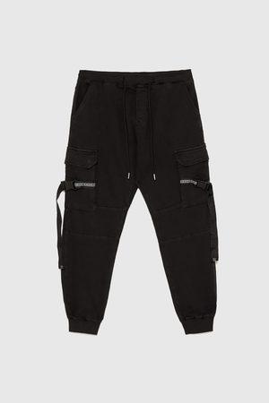 Zara Jeans - JEAN SOFT CARGO AVEC RUBAN