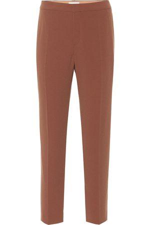 Chloé Pantalon de tailleur raccourci en crêpe
