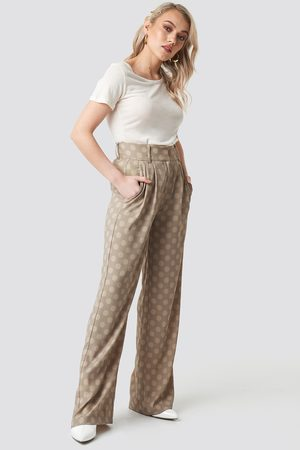 NA-KD Spotted Wide Leg Trousers