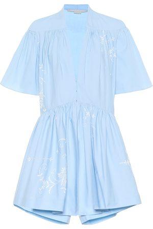 Stella McCartney Combi-short en coton brodé