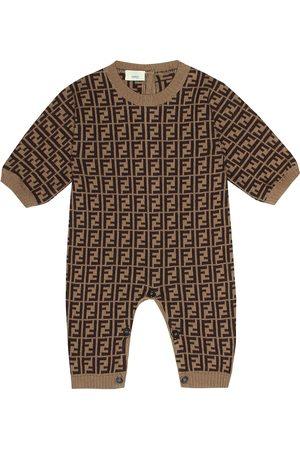 Fendi Grenouillère en coton, cachemire et laine imprimés
