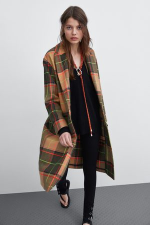 Zara Manteau à carreaux