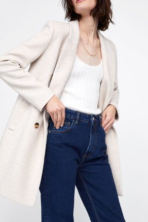 Zara Manteau à boutonnage croisé