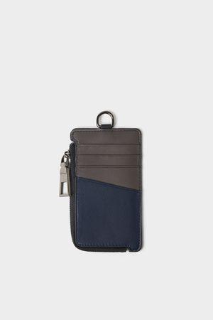 Zara Porte-cartes tricolore avec zip