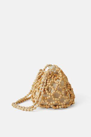 Zara Sac seau avec petites perles en bois
