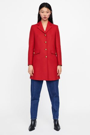 Zara Coat with metallic buttons
